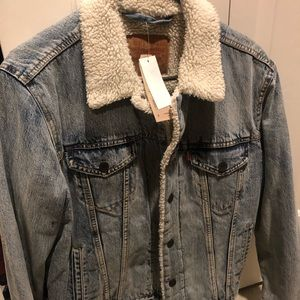 LEVI's Sherpa winter Jean jacket NEW WITH TAGS MED